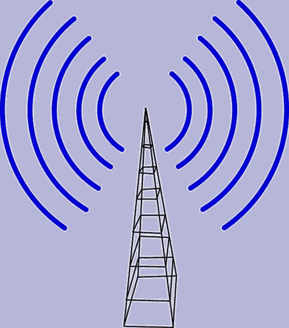 mobiltårn med stråling